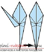 Detailed instructions with schemes for performing the classic crane origami. Picture №10