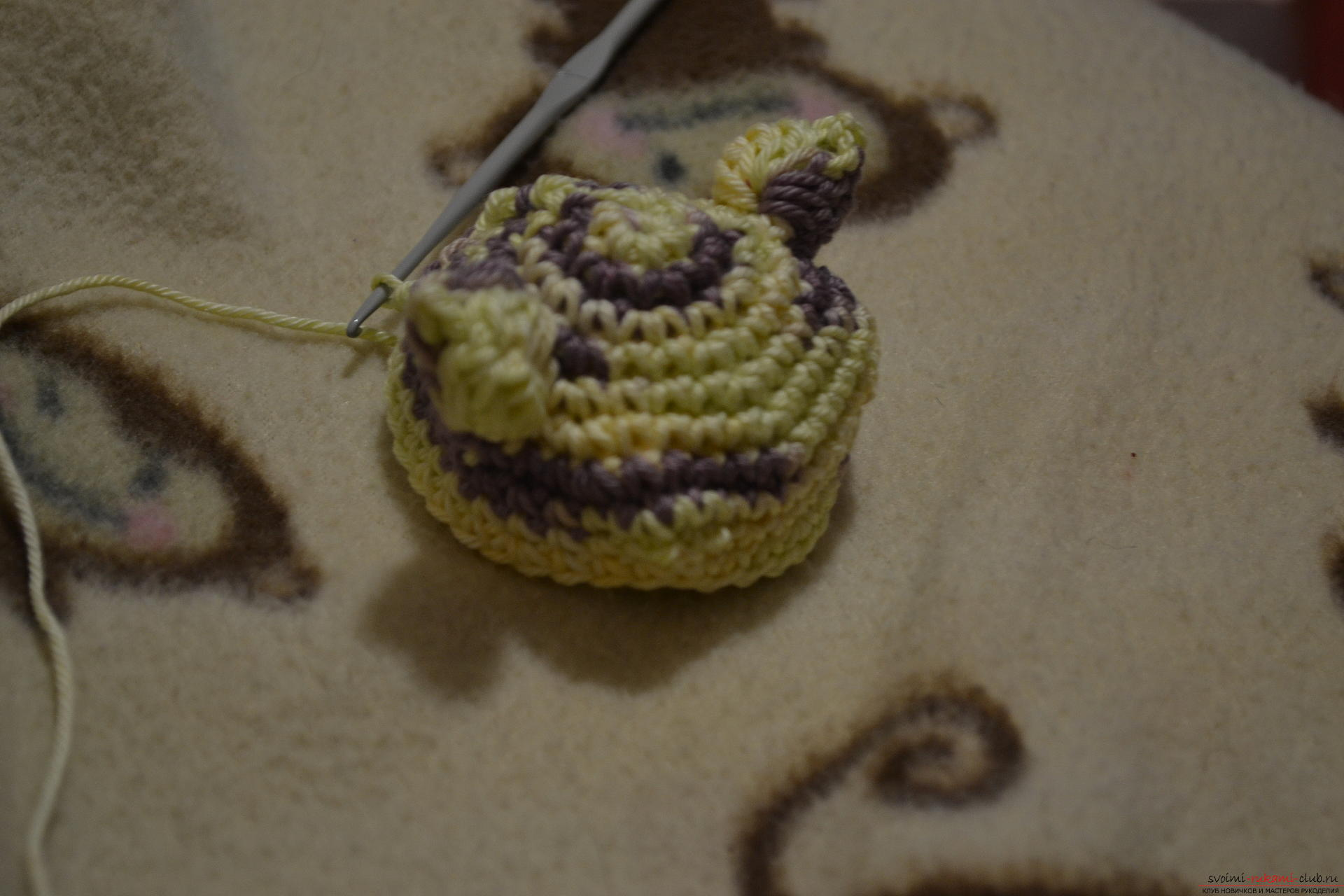 This master class of crocheting with a photo and diagram will teach how to tie a beautiful cat .. Photo # 7