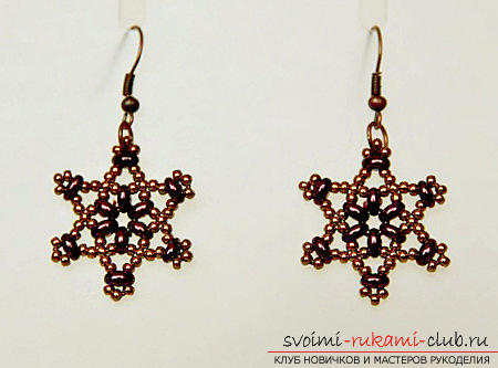 Several master classes on weaving earrings from beads, step-by-step photos and description .. Photo # 6