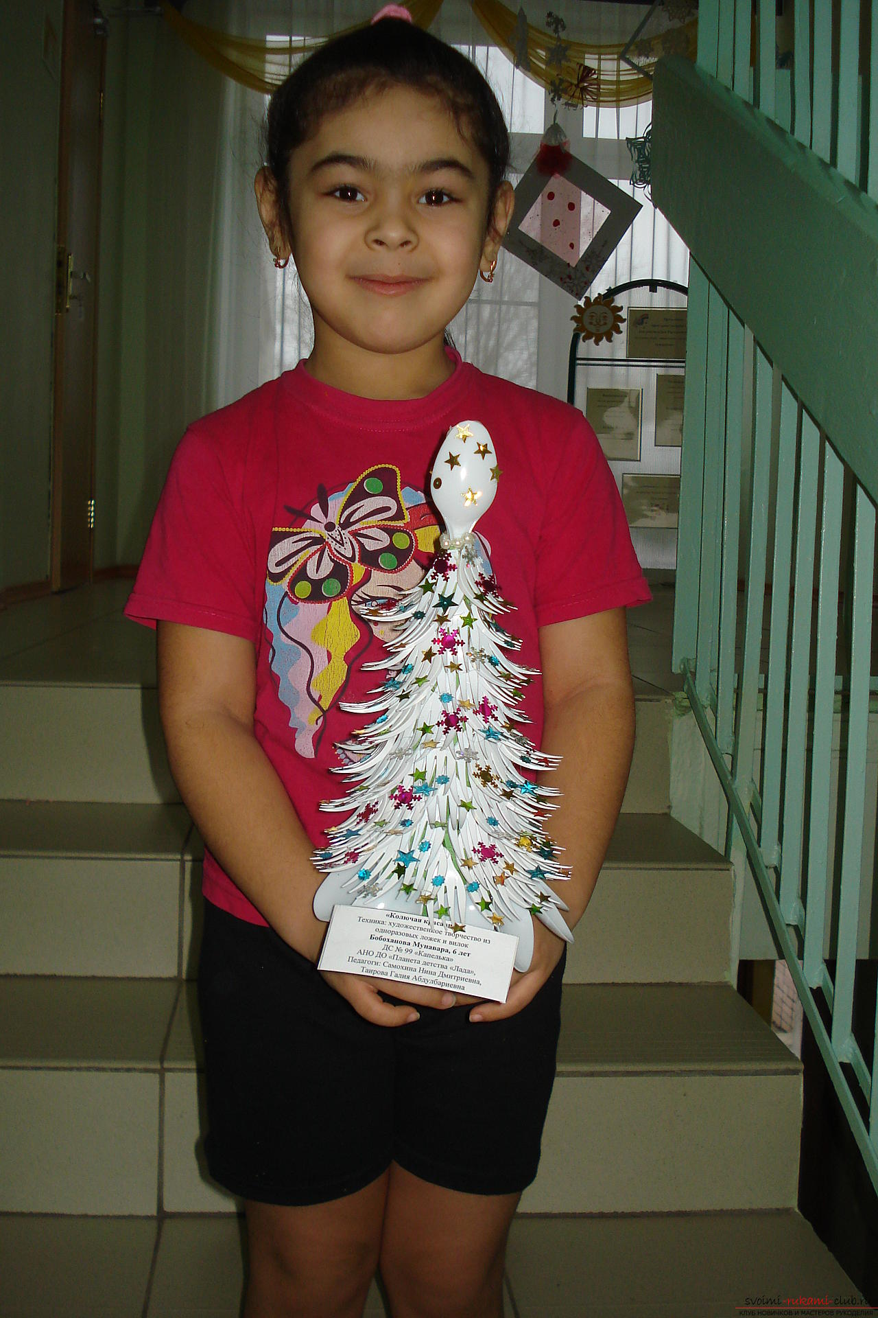 interesting New Year's crafts we have turned out of junk material. Different Christmas trees decorate not only the house, but our group in the kindergarten. Photo # 5