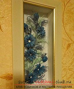 How to make a New Year's panel with flowers in the quilling technique? Master Class. Photo # 2