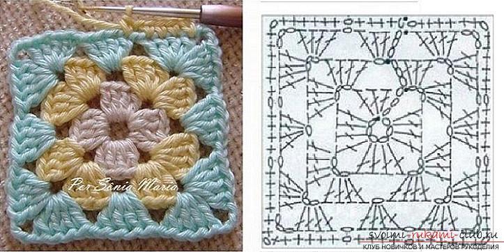 Схеми, фото і докладний опис, як зв'язати килимки своїми руками гачком .. Фото №2
