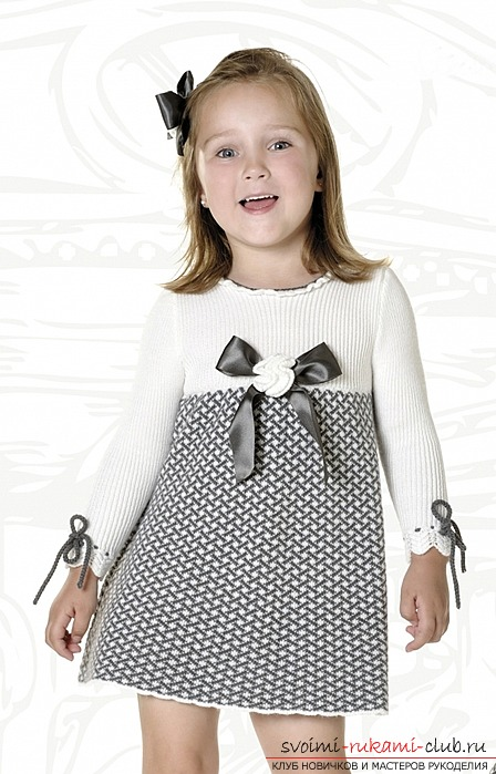 Knitting needles for girls. Scheme and description of the work. Photos and recommendations of experts on the sequence of knitting dresses. Photo №1