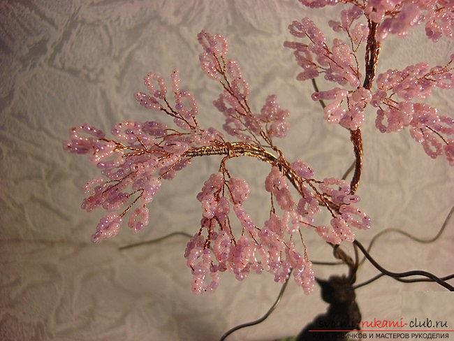 How to weave sakura from beads, detailed master classes with step-by-step photo and description .. Photo # 20