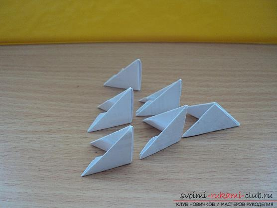 Origami New Year's grandfather frost - how to make jewelry yourself ?. Photo №4