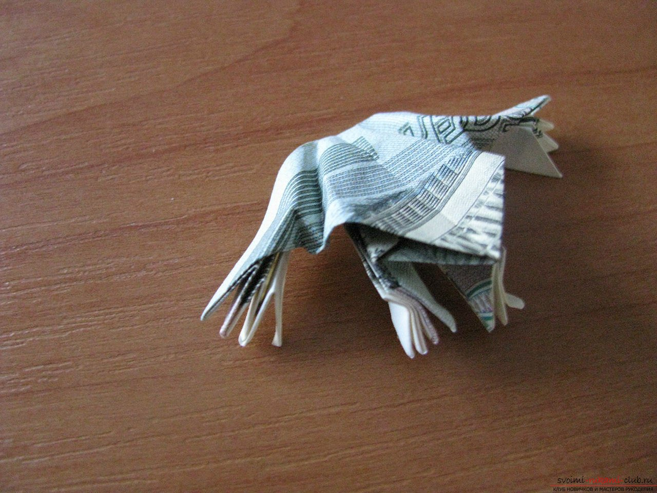 How to make an origami-frog made of paper. Lesson and photos for free .. Picture №3