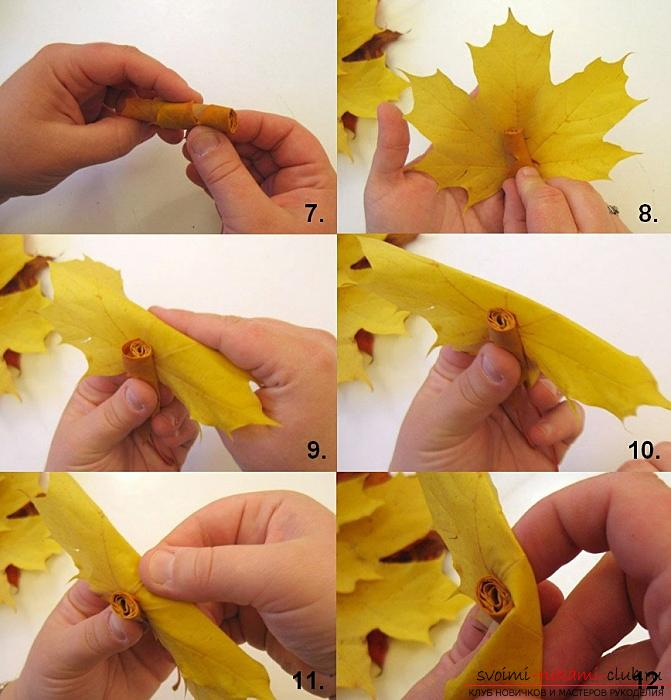 Crafts from maple leaves with their own hands: several lessons. Photo №13