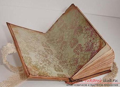 How to make scrapbooking notebook in vintage technique? Master class with their own hands. Photo Number 11
