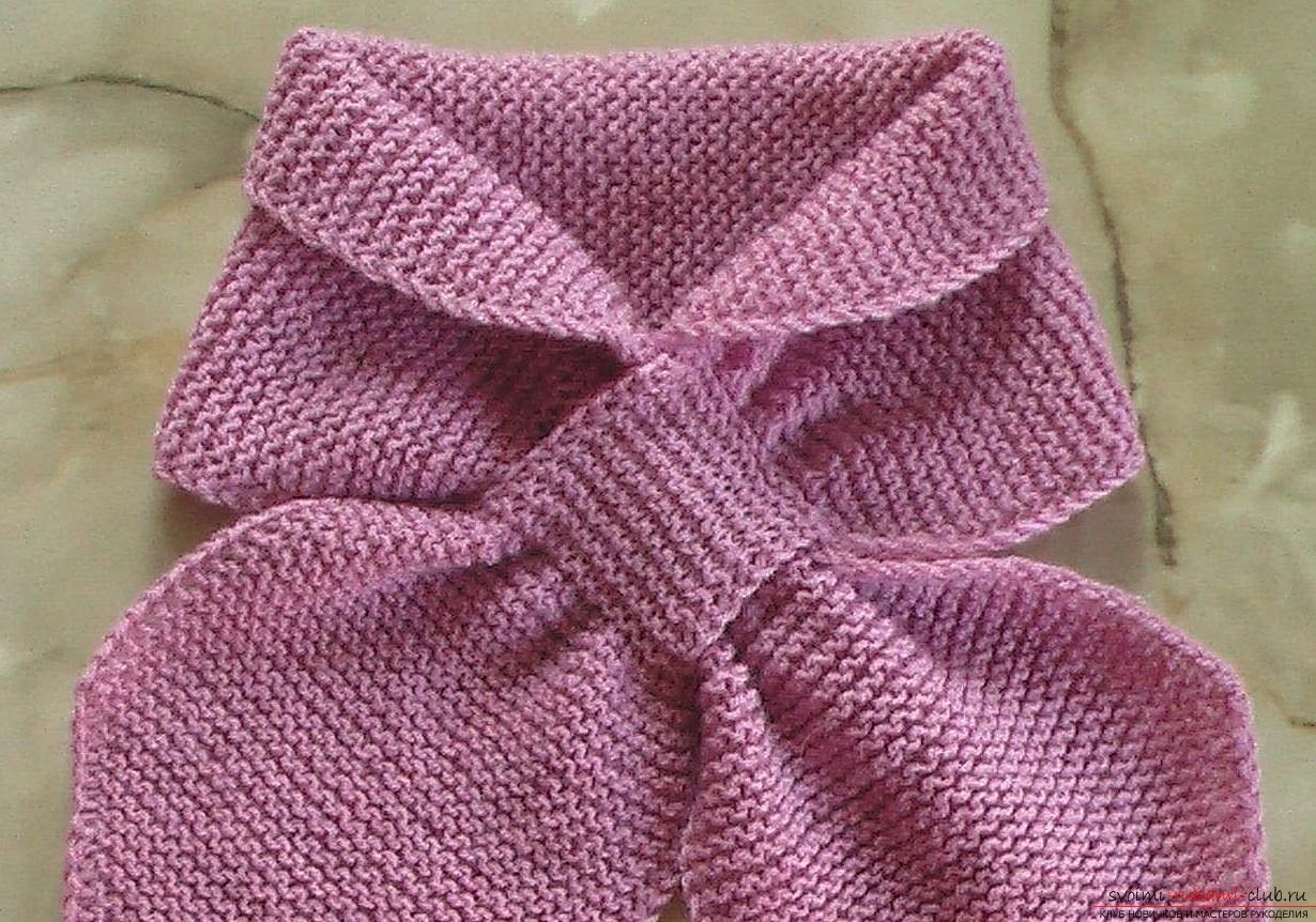 children's scarf without knot. Photo №4