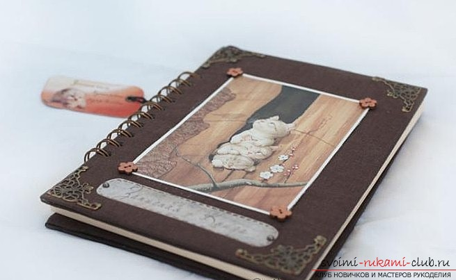 How to create a unique notebook. From cloth and decoupage, simple photo-lessons .. Photo # 2