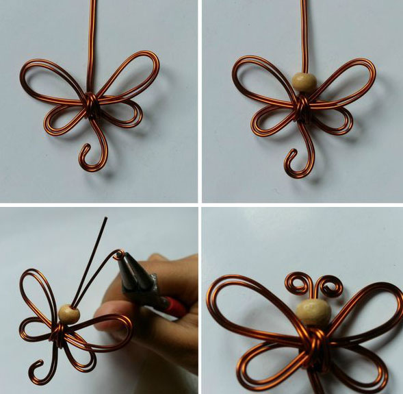 Butterfly made of wire by own hands