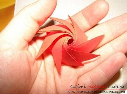 Creation of an acute rose in quilling technique. Photo №4