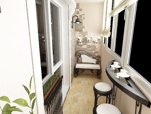 It is very practical and convenient to have a bar on the balcony with a beautiful view
