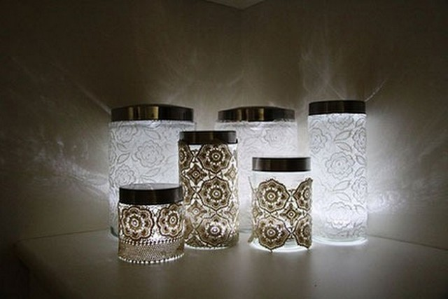 Decorated cans can be used as storage containers