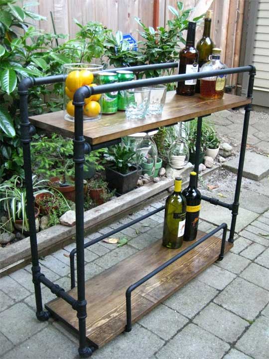 bar table with own hands on wheels