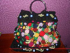 Handbag in the style of rococo. Photo №1