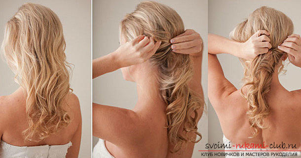 Fast hairstyles for the holiday with their own hands, step by step photos and detailed instructions .. Photo # 3