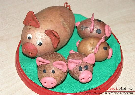 We learn to create simple and interesting crafts from potatoes with our own hands. Picture №3