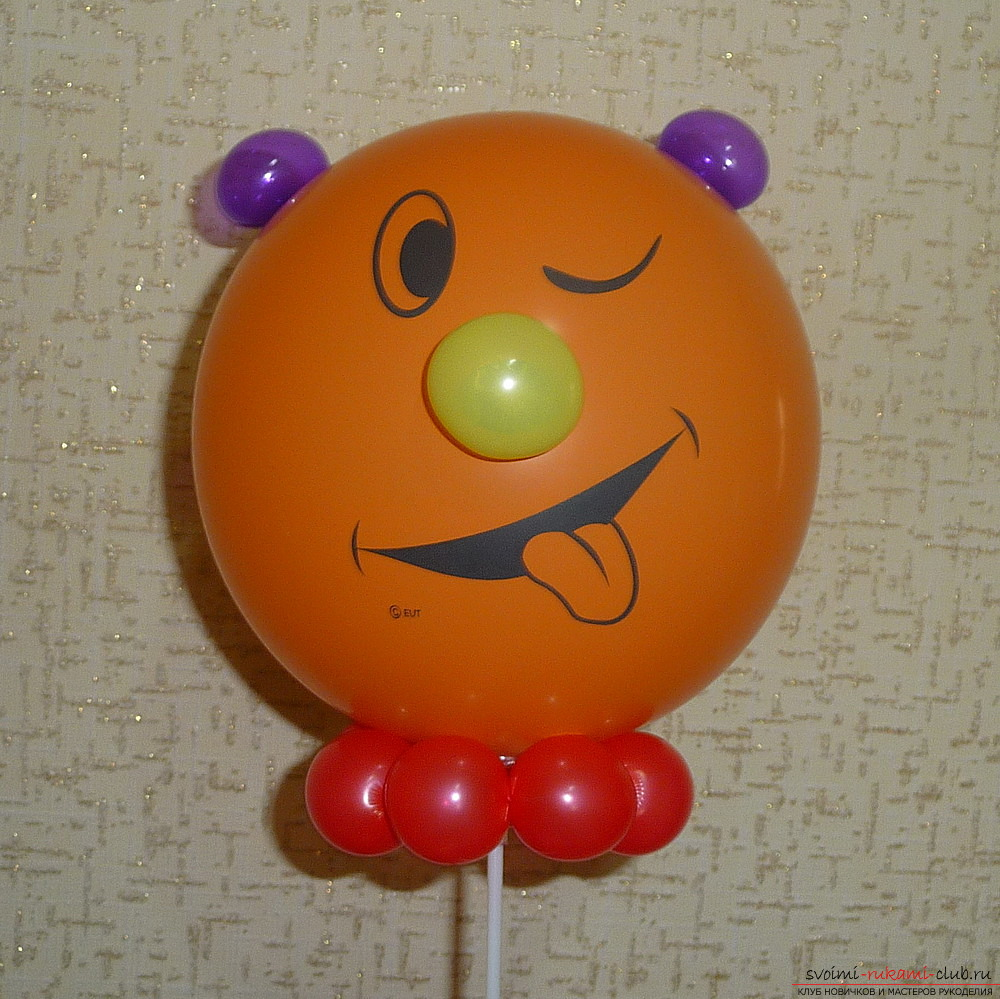 Crafts made of balloons, made by own hands. Colorful photo for an example .. Picture №3