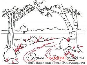 Image of spring, drawing in five stages. Photo №4