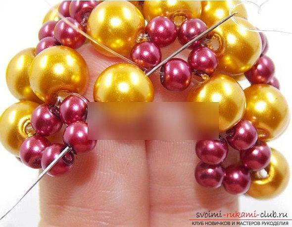 How to make a beautiful bead for Christmas trees? New Year's master class beads. Photo №6