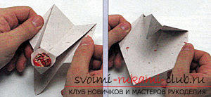 How to create hand-made articles in the classic origami, creating a Christmas tree in the technique of modular origami .. Photo # 57