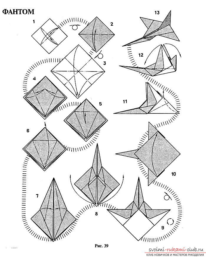 Methods of making paper airplanes in origami technique. Photo №4