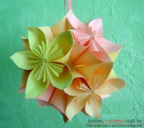 Free master classes on creating modular origami balls, step-by-step photos and description .. Photo # 1
