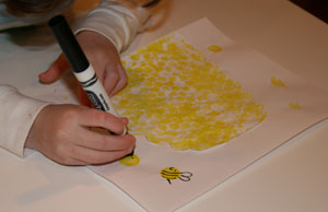 Beehive-craft-drawing-bees