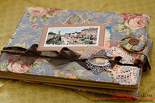 How to create a unique notebook. From cloth and decoupage, simple photo-lessons .. Photo # 3