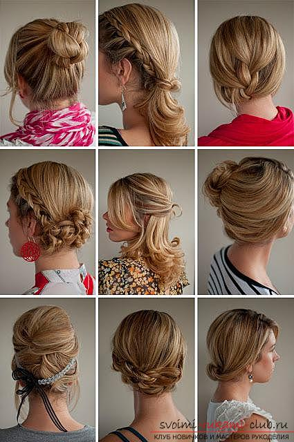 How to make a beautiful hairstyle on medium hair for a celebration with your own hands. Picture №30