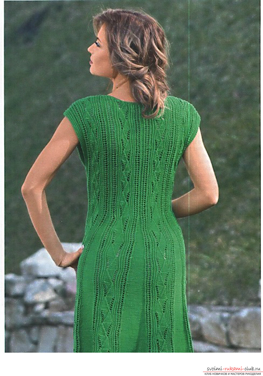 knitted knitted dress with geometric pattern. Photo №1