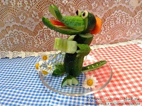 We create interesting and delicious handicrafts from vegetables and fruits. Photo Number 9