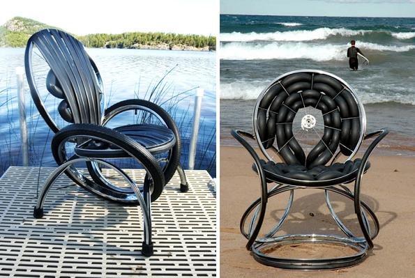 chairs and armchairs from bike furniture design