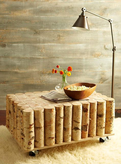 table of logs with your own hands