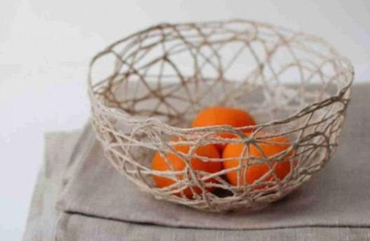 Basket for fruit from twine