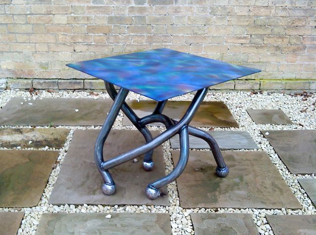 metal table for garden and cottages