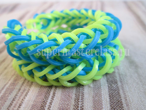 French braid rubber band bracelet