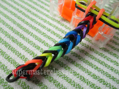 How to make bracelets from gum Fishtail
