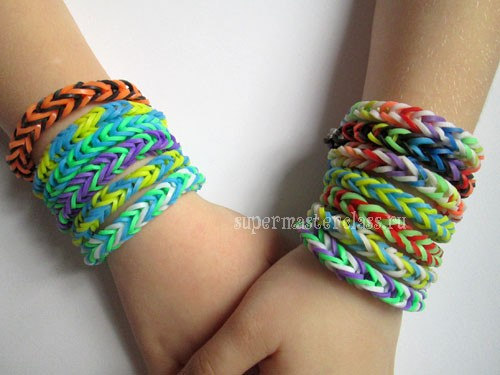 How to weave a bracelet made of gum Fishtail