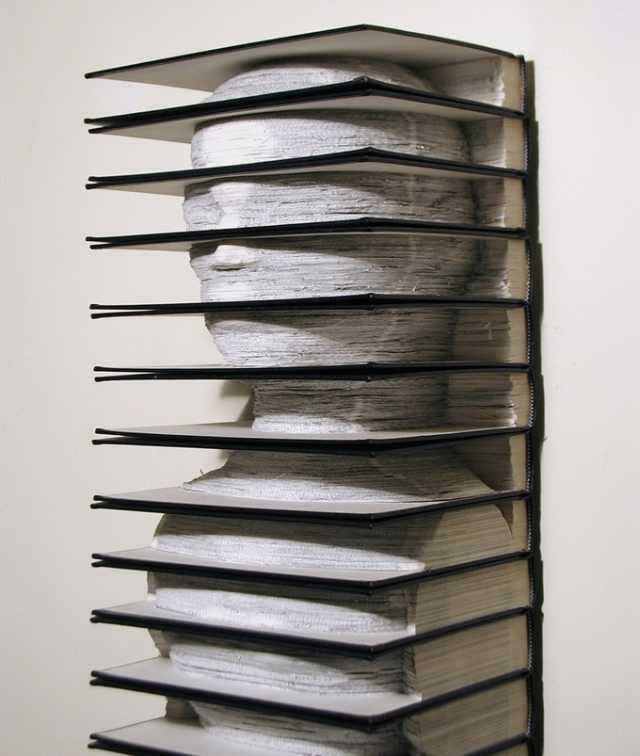 sculpture, book art, Brian Dettmer