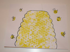 Bubble-wrap-beehive-craft