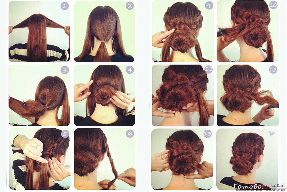 Easy beautiful hairstyles for school. Photo №7