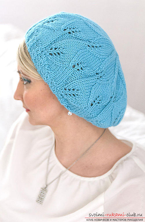 We knit an interesting model of beret with knitting needles. Photo №4