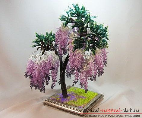How to make a tree of beads with your own hands? Schemes and a master class for work. Photo # 2