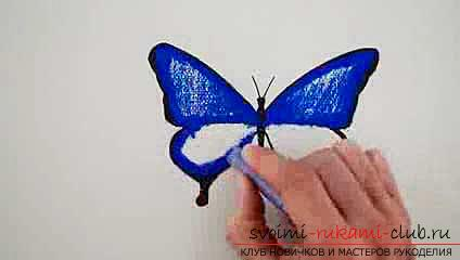 Master class on drawing a butterfly pastel with your own hands. Picture №3