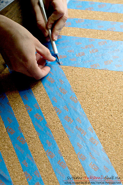 Step-by-step instructions for making slate and cork wallboards for records .. Photo # 5
