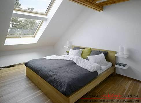 Fresh ideas of interior design, how to make a dark room more light and bright with their own hands .. Photo # 4