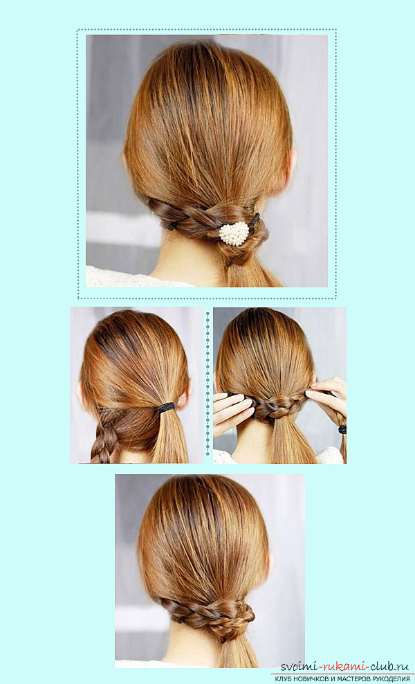 How to make children's hairstyles for girls with their own hands: to make a hairstyle for a girl just !. Photo №7