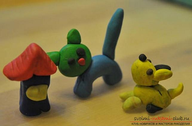 Molding of plasticine for children from 1.5 years. The initial stages of sculpting crafts from plasticine. Photo №4